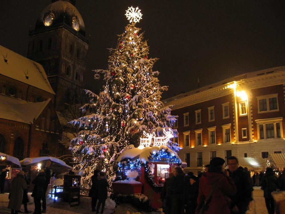 History First Christmas Tree Riga Latvia in year 1510